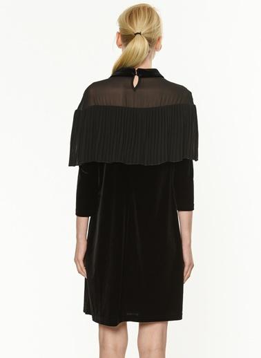 Yakası Pileli Kısa Elbise-Jus De Pommes